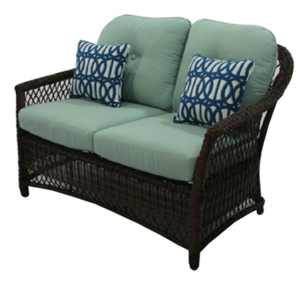 Four Seasons BGH05505H60 Bermuda Loveseat Woven Wicker Chair w/ Steel Frames