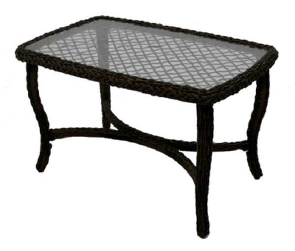 Four Seasons BLK01001H60 Bermuda Coffee Table w/ Steel Frames & Glass Top
