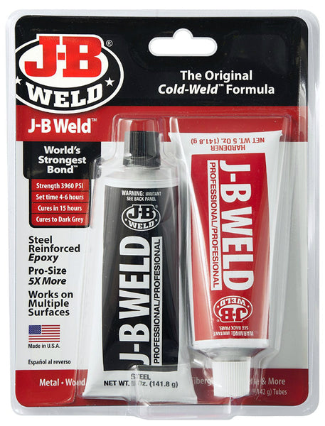 J-B Weld® 8281 Steel Reinforced Cold-Weld Epoxy, 10 Oz