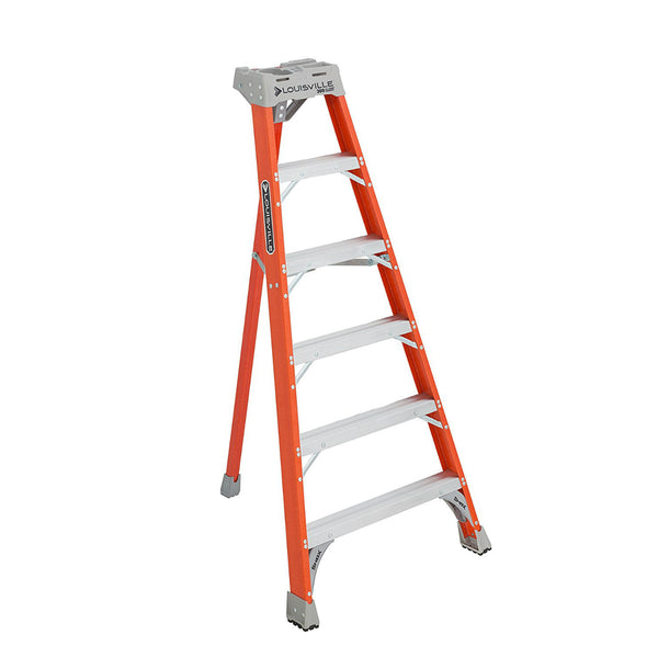 Louisville Ladder® FT1506 Type IA Fiberglass Tripod Ladder, 300 lbs, 6'