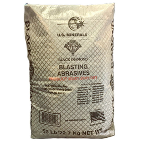 Black Diamond 07TSMBB5 Coal Slag Roofing Granules, Medium, 50 Lbs