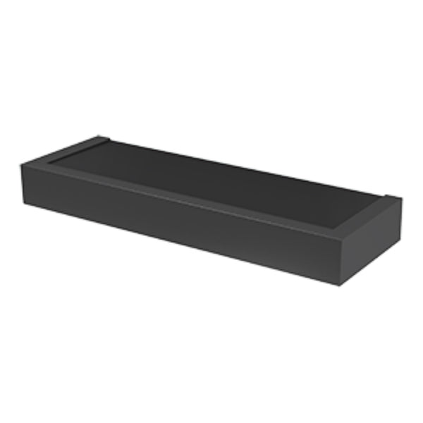 "Hillman® 515602 High & Mighty Modern Floating Shelf, 18"", Black"