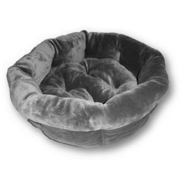 Petmate® 80866 Shearling Round Pet Bed w/ Raised Pillows, 21""
