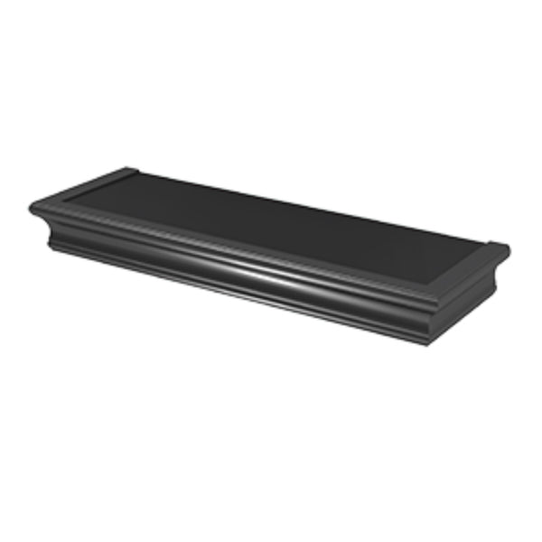 Hillman® 515605 High & Mighty™ Beveled Floating Shelf, Black, 18""