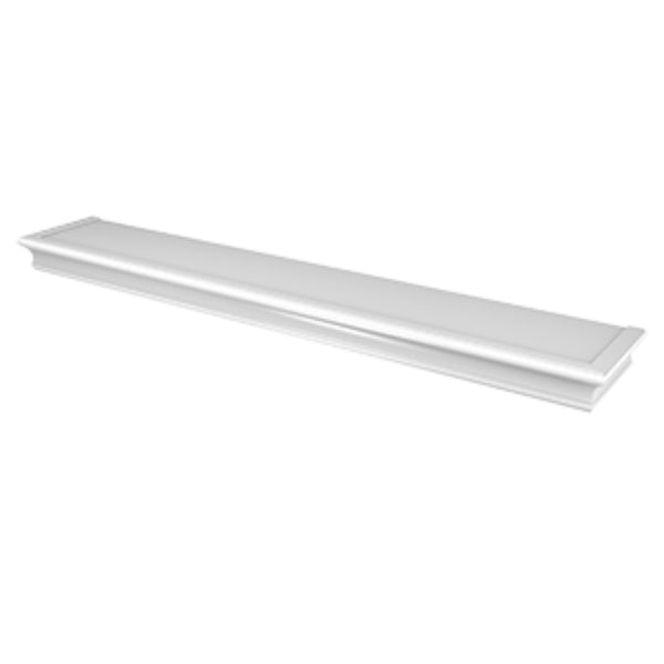 Hillman 515616 High & Mighty Beveled Floating Shelf, White, 36""