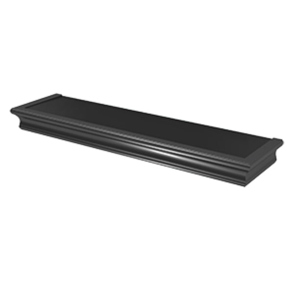 Hillman® 515611 High & Mighty™ Beveled Floating Shelf, Black, 24""