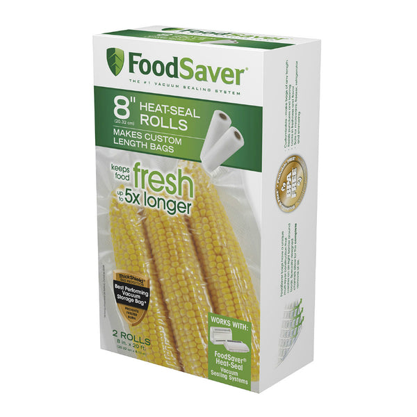 "FoodSaver® FSFSBF0526-NP Microwave-Safe Vacuum-Seal Roll, 8"" x 20', 2 Pack"