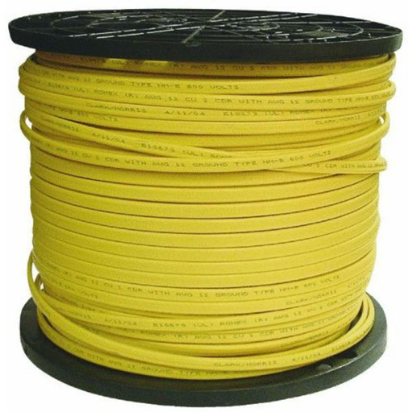 Southwire 28828201 Romex Non-Metallic Sheathed Cable w/Ground, 12/2,Copper, 1000'