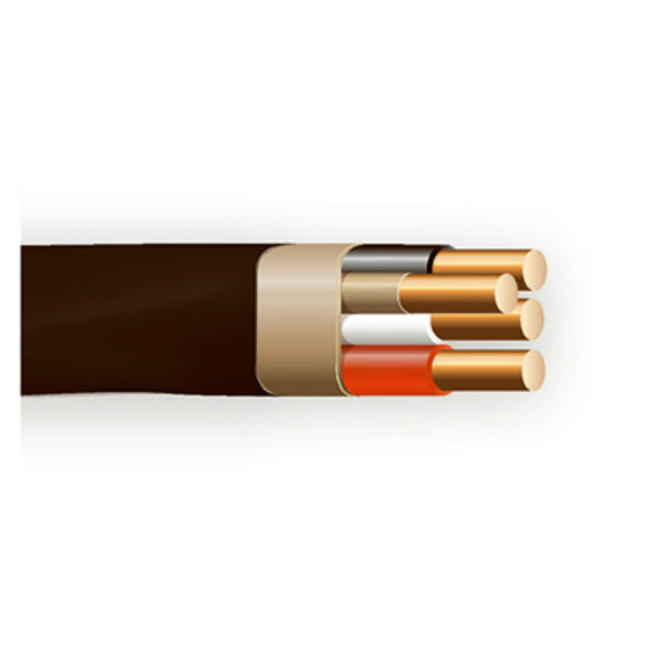 Southwire® 63950072 Non-Metallic Sheathed Cable with Ground, 6/3, Copper, 90'