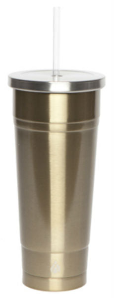 Manna 18034-TV Chilly Double Wall Stainless Steel Tumbler, Gold, 24 Oz