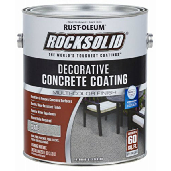 Rust-Oleum® 306267 RockSolid® Decorative Concrete Coating, Slate, 1 Gallon