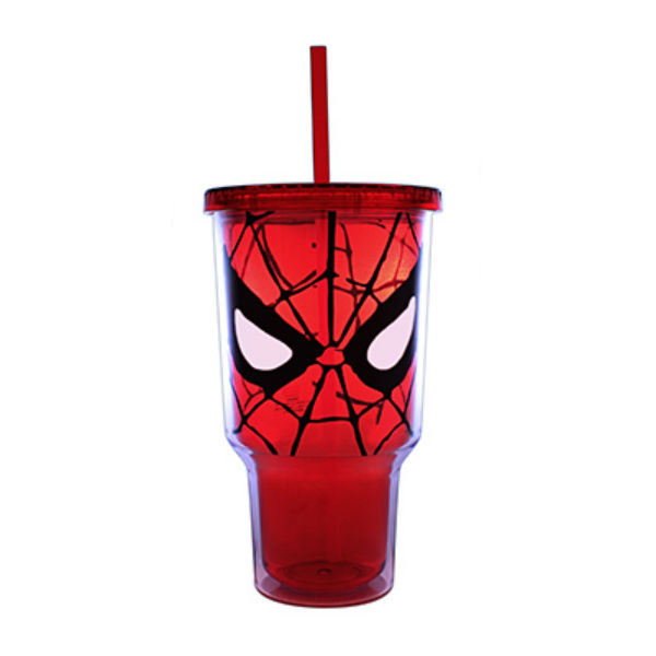 Silver Buffalo MC7017 Marvel Spiderman Eyes Plastic Cold Cup, 32 Oz