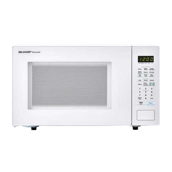Sharp® SMC1441CW Carousel Countertop Microwave Oven, White, 1000W, 1.4 Cu. Ft.