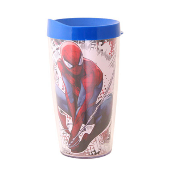 Silver Buffalo MC111186 Spiderman Spider City Splat Domestic Tumbler, 16 Oz