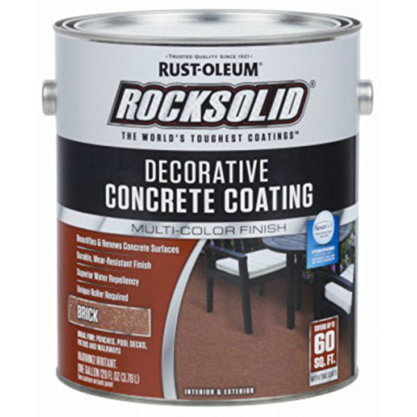 Rust-Oleum® 306264 RockSolid® Decorative Concrete Coating, Brick, 1 Gallon