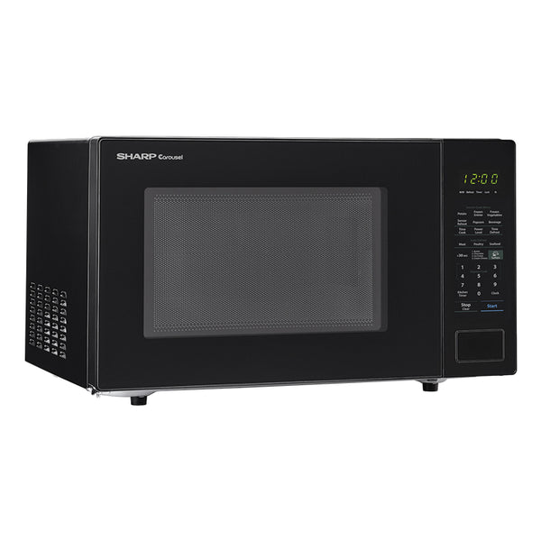 Sharp® SMC1441CB Carousel Countertop Microwave Oven, Black, 1000W, 1.4 Cu. Ft.