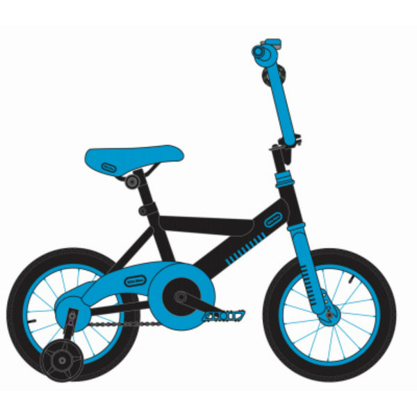 Little Tikes® LT0900112BKBL Boys Bike with Training Wheels, Blue & Black, 12""
