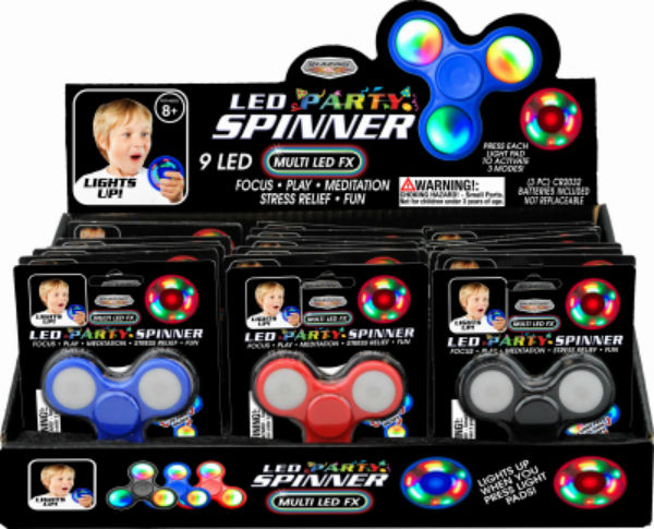 Blazing Ledz 702545 Multi LED Party Spinner, Assorted Colors