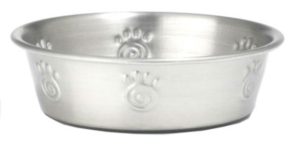 PetRageous Designs® 60048 Cayman Classic Stainless Steel Non-Skid Bowl, 1-Qt