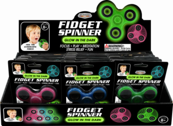 Blazing Ledz 702540 Glow-In-The-Dark Fidget Spinner, Assorted Colors
