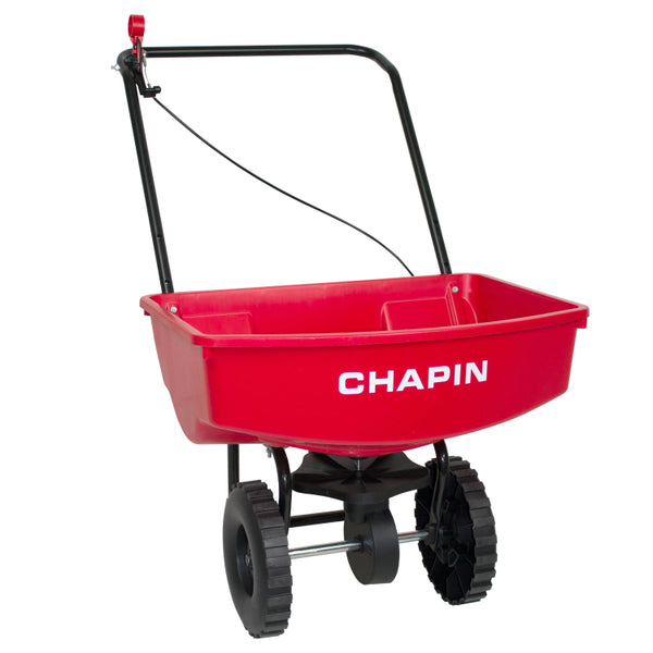"Chapin® 8000A Residential Lawn Spreader with 9"" Poly Wheels, 65-Pound Capacity"