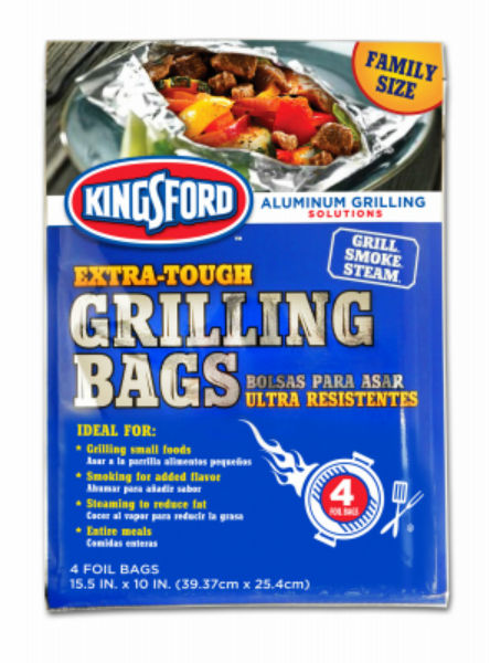 "Kingsford® 10259994115 Extra-Tough Grilling Bags, 15.5"" x 10"", 4-Pack"