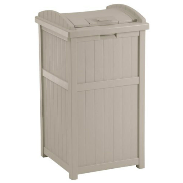 Suncast® GH1732 Trash Hideaway™ Trash Bin, Light Taupe, 30-Gallon