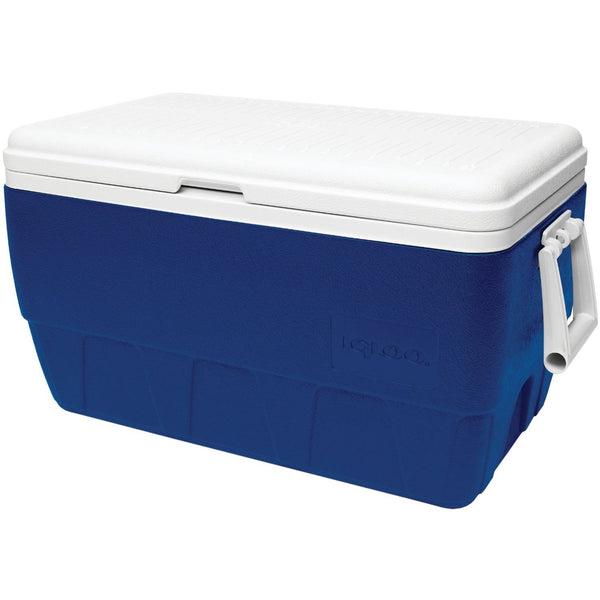Igloo® 44368 Family Cooler with Majestic Blue Body & White Lid, 52 Qt