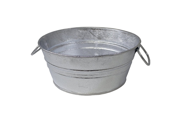 Behrens 103LFT Hot Dipped Steel Low Round Flat Tub, 1.5 Gallon