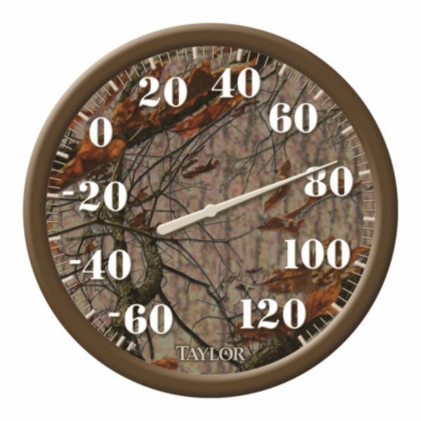 Taylor® 6759 Easy Read Big & Bold Dial Thermometer, Mossy Oak Camo, 13.25""