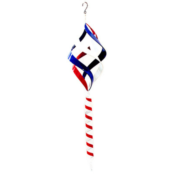 Alpine BVF108 Metal Wind Spinner with Shepherd's Hook, Red / White / Blue