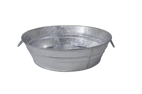 Behrens 105LFT Hot Dipped Steel Low Round Flat Tub, 3-Gallon