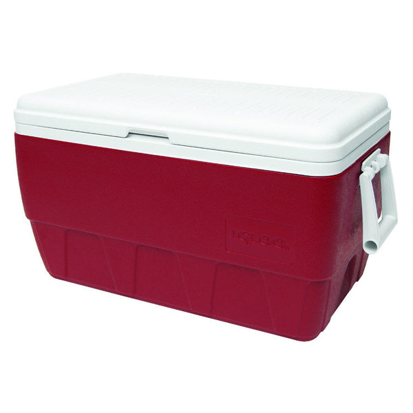 Igloo® 44528 Family Cooler with Diablo Red Body & White Lid, 52 Qt