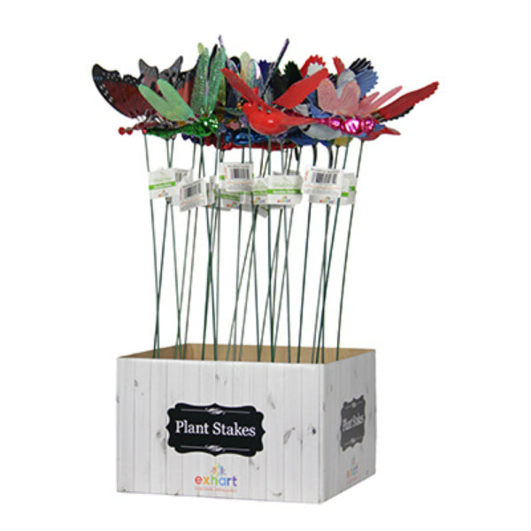 "Exhart® 5035 WindyWings Garden Stakes, Assorted Colors & Designs, 4"" x 16"""