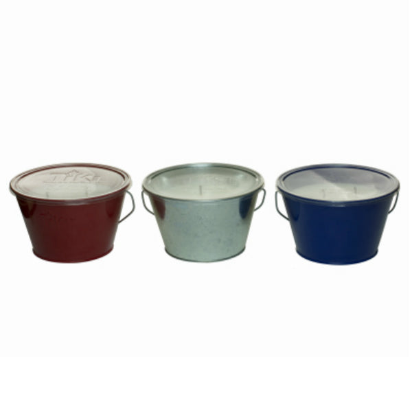 Tiki® 1414064 Americana Triple Wick Citronella Candle Bucket, Assorted, 28 Oz