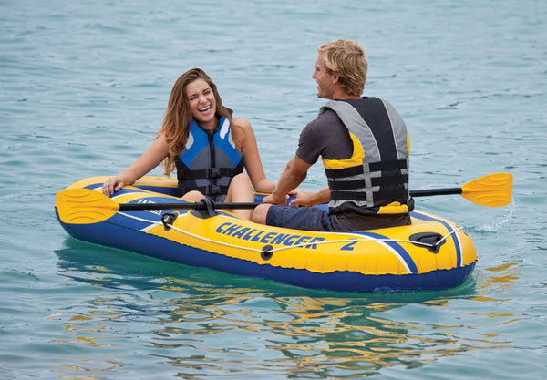 "Intex® 68367EP Challenger 2-Person Inflatable Boat Set, 93"" x 45"" x 16"""