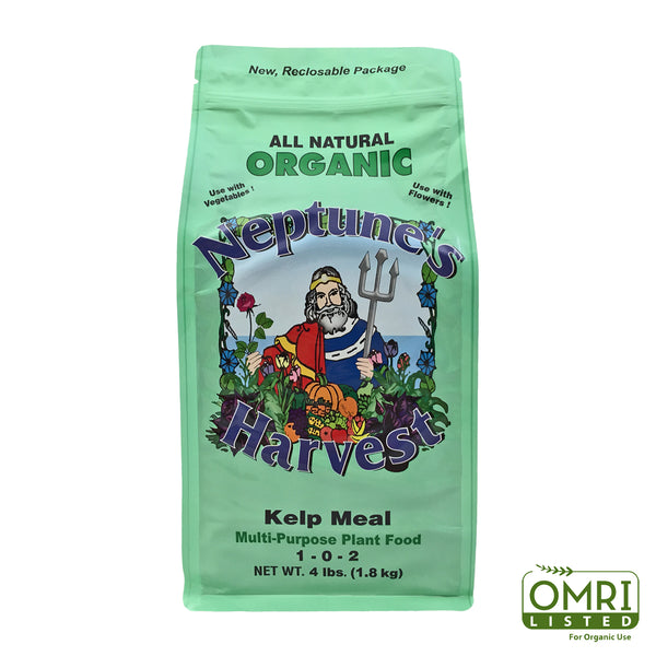 Neptune's Harvest KM604 Organic Kelp Meal Multi-Purpose Plant Food, 1-0-2, 4 Lb