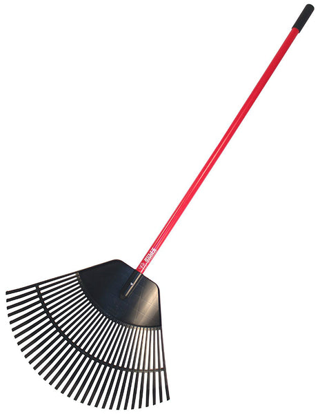 "Bully Tools 92630 Poly Lawn & Leaf Rake with Fiberglass Handle, 30"" x 22"" Head"