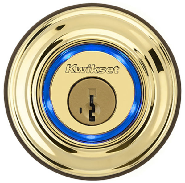 Kwikset® 925-KEVO2-DB-L03 Kevo 2-Generation Bluetooth Electronic Deadbolt, Brass