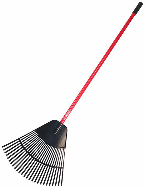 "Bully Tools 92624 Poly Lawn & Leaf Rake with Fiberglass Handle, 24"" x 22"" Head"