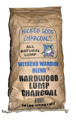 Wicked Good Charcoal® WEEKEND-WARRIOR-BLEND Hardwood Lump Charcoal, 20 Lb