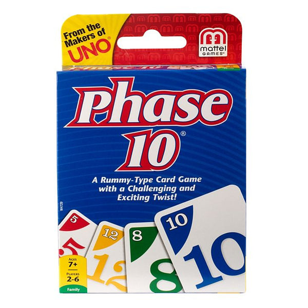 Mattel Games® W4729 Phase 10™ Rummy-Type Card Game, Age 7 & Up