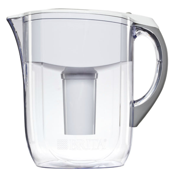 Brita® 35565 Grand Pour Through Filter Pitcher, White, 10 Cup Capacity