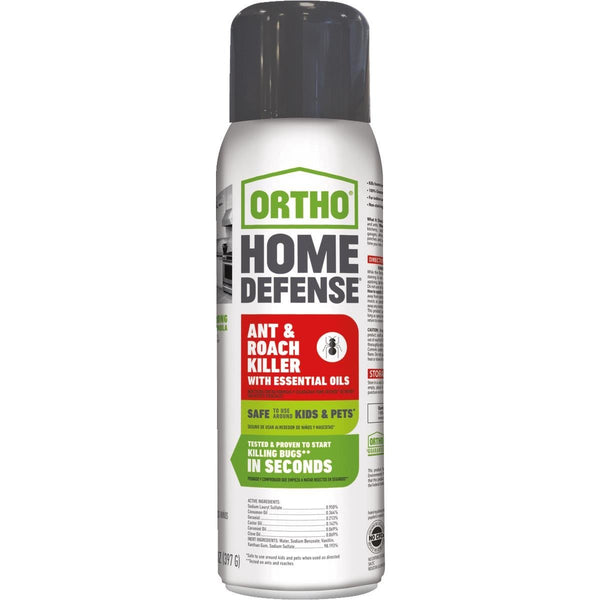 Ortho 0202812 Home Defense Ant & Roach Killer with Essential Oils, 14 Oz