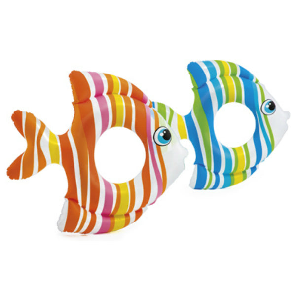 "Intex® 59223EP Tropical Fish Inflatable Swim Ring, Assorted Color, 32.5"" x 32"""