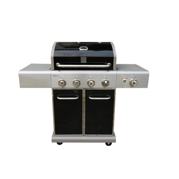 Kenmore® PG-40409SOLB-B 4-Burner LP Gas Grill w/ Searing Side Burner, Black