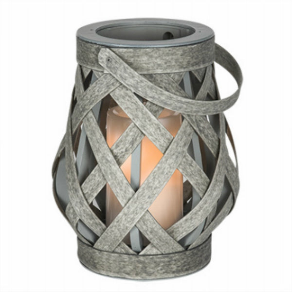 "Sterno® GL39150 Rattan Criss Cross Lantern with Battery-Operated 4"" Candle"