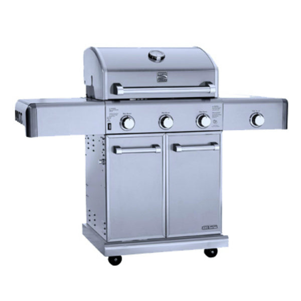 Kenmore PG-40308OOLC-2S Elite 3-Burner Stainless Steel Gas Grill with Cast Iron Side Burner