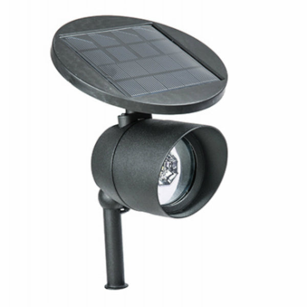 Four Seasons Courtyard GL29982BK Solar Spot Light w/ Remote Solar Panel, White