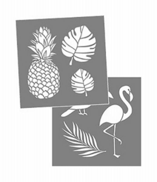 "DecoArt® ADS207-K Americana® Decor Tropical Stencil, 8"" x 8"""